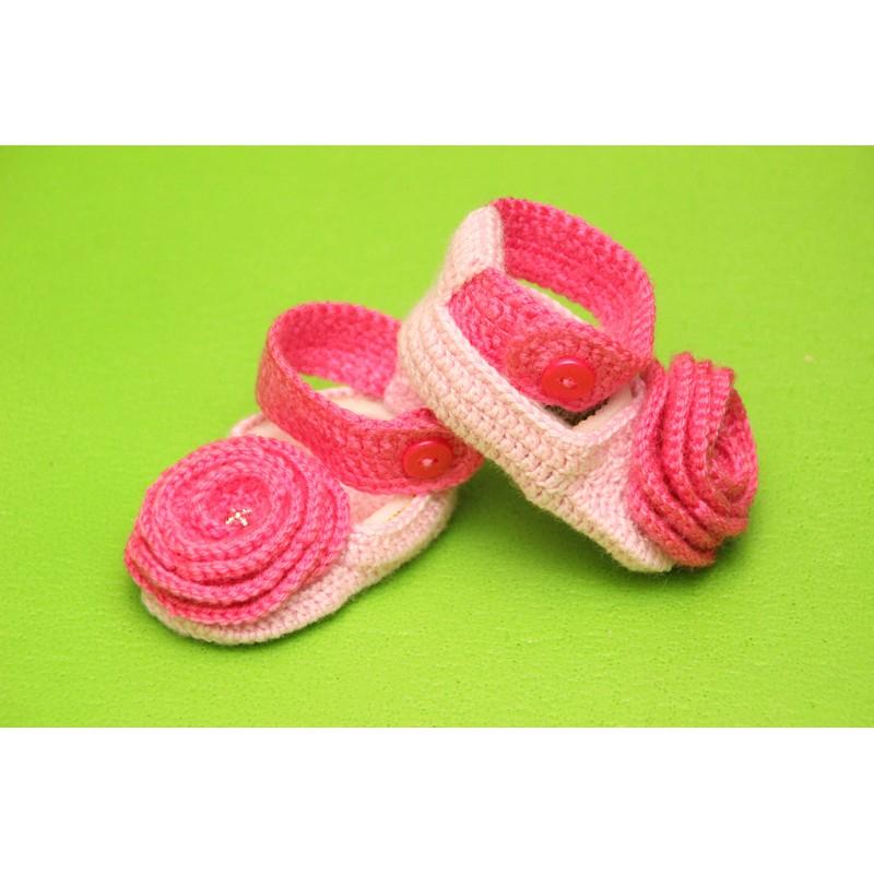 Пинетки-сандалики. Светло-розовые. Закрытый нос
