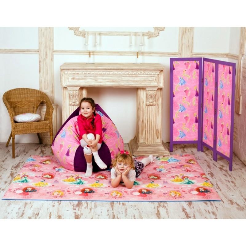 Детский складной коврик Disney/PIXAR с изображениями Принцесс. 2000х1400х10мм. Юрим.  Артикул: 4156