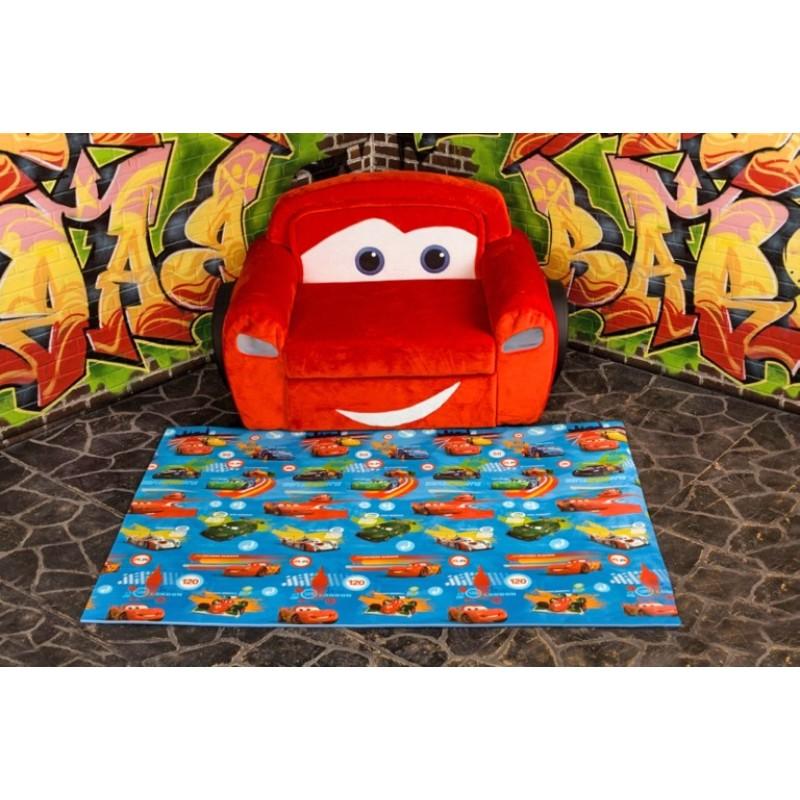 """Детский  рулонный коврик Disney/Pixar """"Тачки"""". 1500х1000х10мм. Юрим. Артикул: 610032D"""